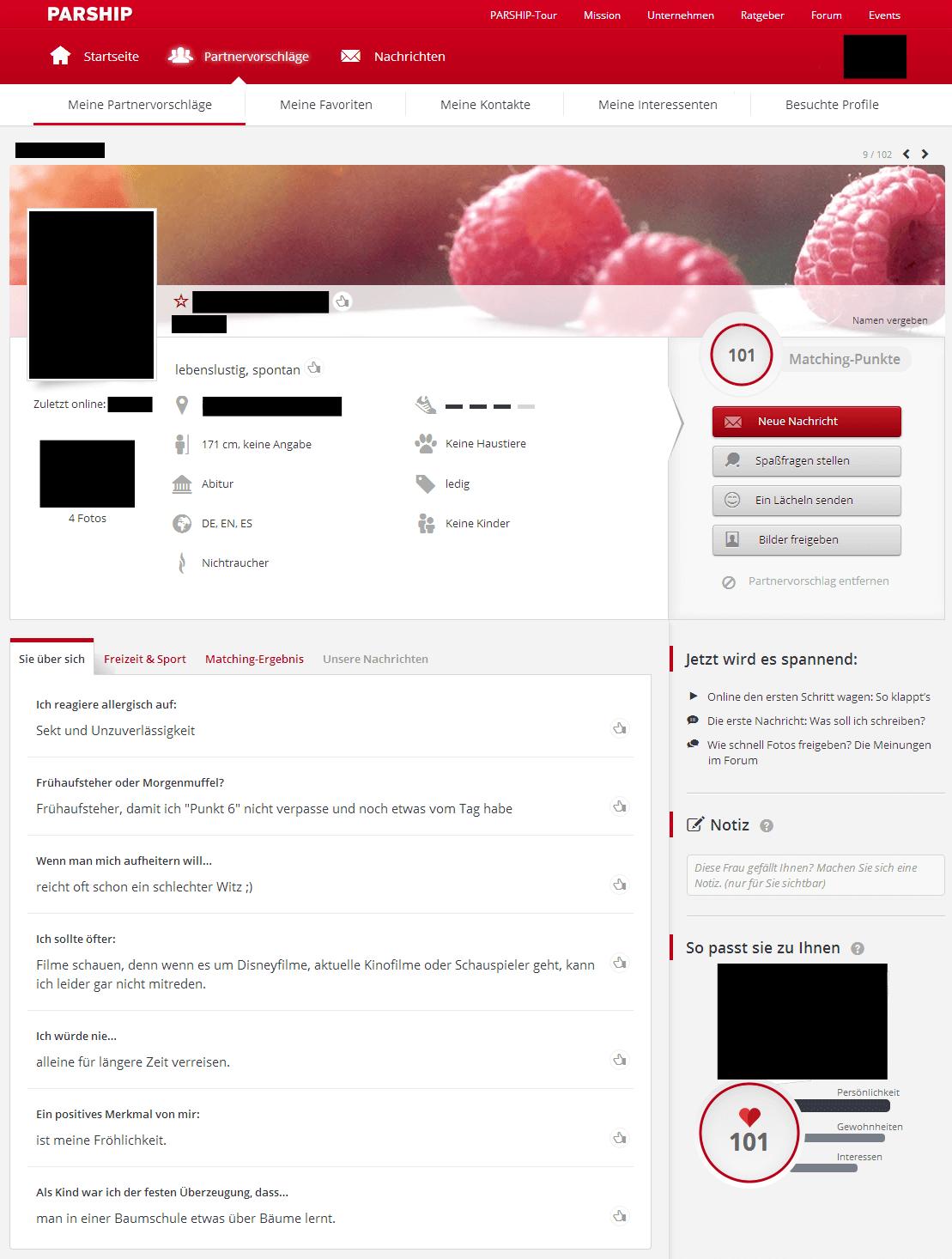 Partnersuche profil schreiben