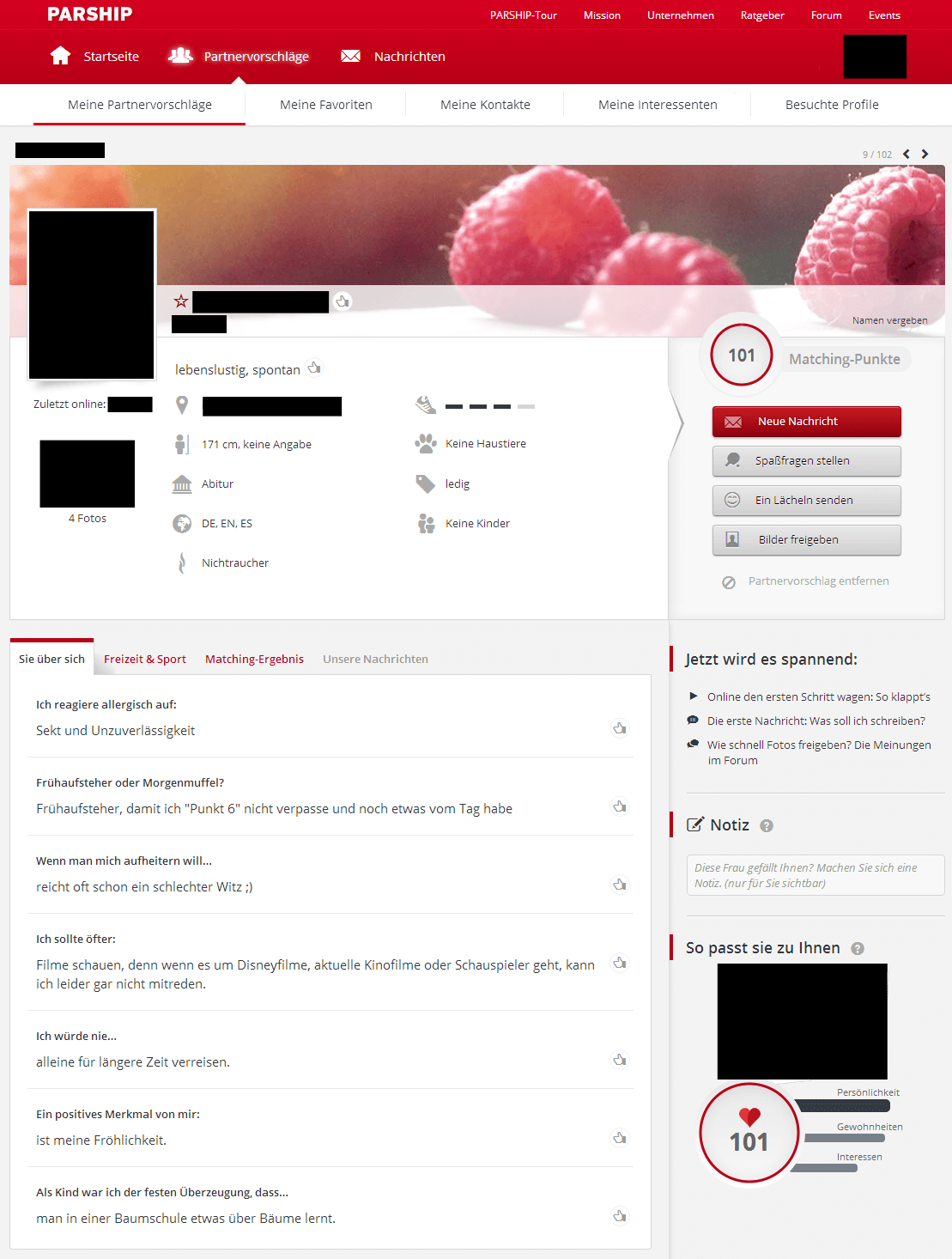 Profil partnersuche muster