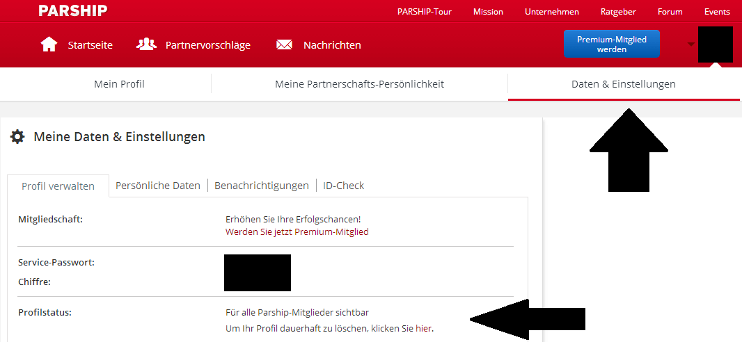 Parship Löschen
