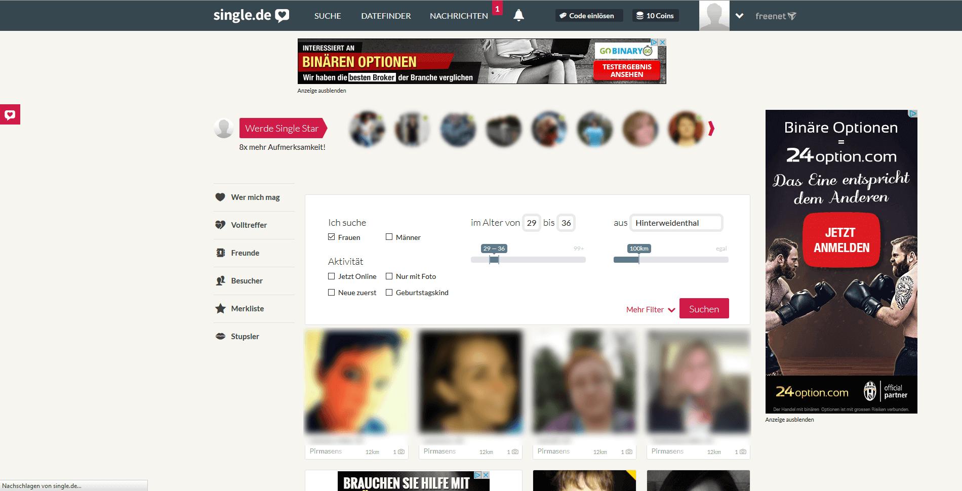 Daten-Websites für lokale Singles
